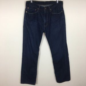 Levis 505 Men Straight Denim Blue Jeans Size 36x34